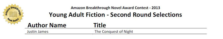 Amazon Teen Fiction Writer Award