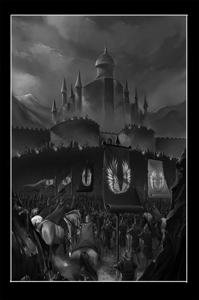 Citadel of Night Book Cover Drawing